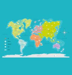 world map weather vector image