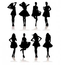 fashion models vector image vector image