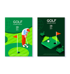 golf club poster template vector image vector image