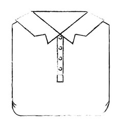 monochrome blurred silhouette of men polo shirt vector image