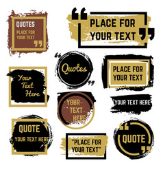 quotes speech bubbles with frames and distressed vector image vector image