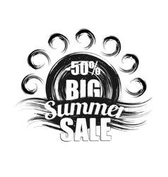 Summer sale black grunge vector image