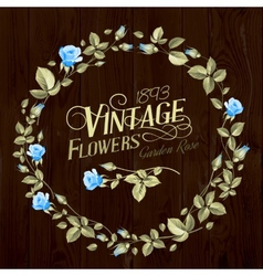 Vintage Flowers vector image vector image