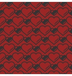 Heart shaped seamless pattern vector image vector image