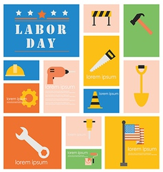 Icon Labor Day vector image