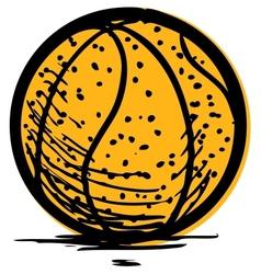 Basketball isolated on white background vector image