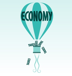 Economy and taxes vector
