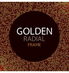 Gold disco lights frame or spangles round vector