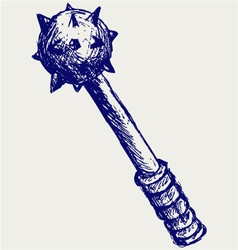 Mace realistic vector image vector image