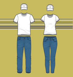 t-shirt and jeans set vector image