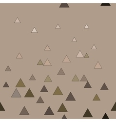 Triangle chaotic beige seamless pattern vector image