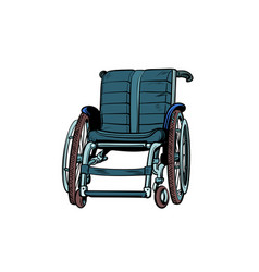 wheelchair isolated on white background vector image