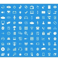 100 Hi-Tech icon set vector
