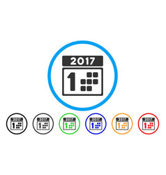 2017 year first day rounded icon vector