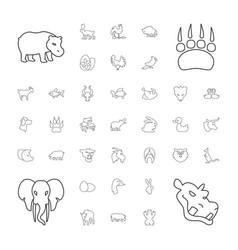 37 animal icons vector