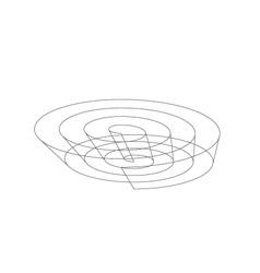 3d wireframe logo vector