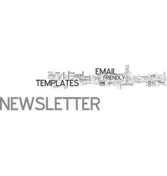 a guide to user friendly email newsletter vector image