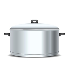 A stainless pan vector image