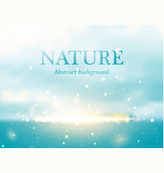 Abstract colorful nature bokeh background vector