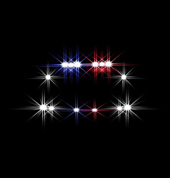abstract light effects police car at night with vector image