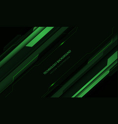Abstract technology cyber circuit green vector