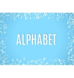 Abstract white alphabet ornament frame isolated on vector