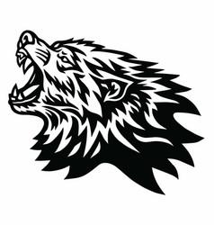 angry wolf logo mascot design vector image