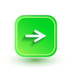 arrow icon flat design right direction vector image