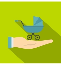 Baby pram protection icon flat style vector