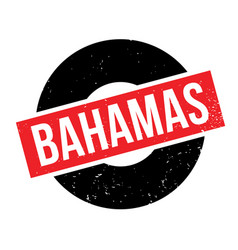 bahamas rubber stamp vector image