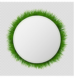 banner ball with grass transparent background vector image