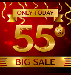 big sale fifty five percent for discount vector image