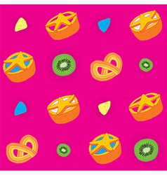 biscuits bright seamless pattern vector image