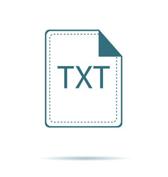 blue txt icon isolated on background modern flat vector image