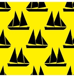 Boat seamless pattern vector