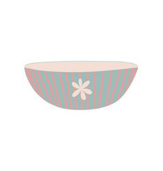 bowl dishware cute ceramic crockery cookware vector image