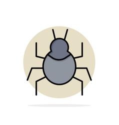 Bug nature virus indian abstract circle vector