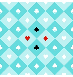 Card Suits Aqua Green Chess Board Diamond vector