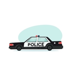 Cartoon police car icon isolated objects on white vector