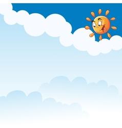 Cartoon sun clouds vector