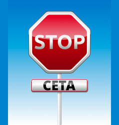 Ceta - comprehensive economic and trade agreement vector