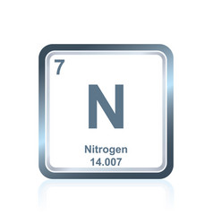 Chemical element nitrogen from the periodic table vector
