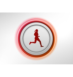 Circle red with runner vector