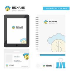 Cloud dollar business logo tab app diary pvc vector