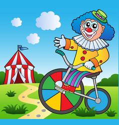 clown theme picture 2 vector image