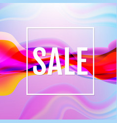 colorful flow poster with line sale poster vector image
