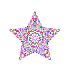Colorful isolated abstract floral ornament star vector