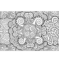 coloring book page with beautiful abstract pattern vector image