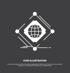 Complex global internet net web icon glyph symbol vector