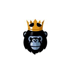 Creative king gorilla head logo vector